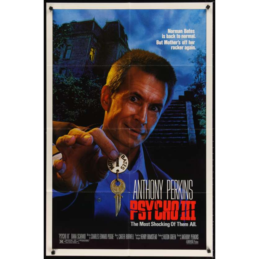 PSYCHO III Movie Poster - Anthony Perkins