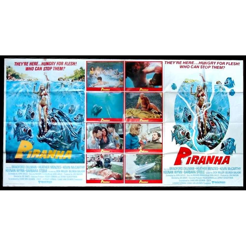 PIRANHAS Affiche du film - 195x104 cm