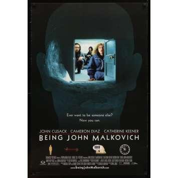 BEING JOHN MALKOVICH Movie Poster '99 Spike Jonze directed, Cusack, Cameron Diaz, Catherine Keener!