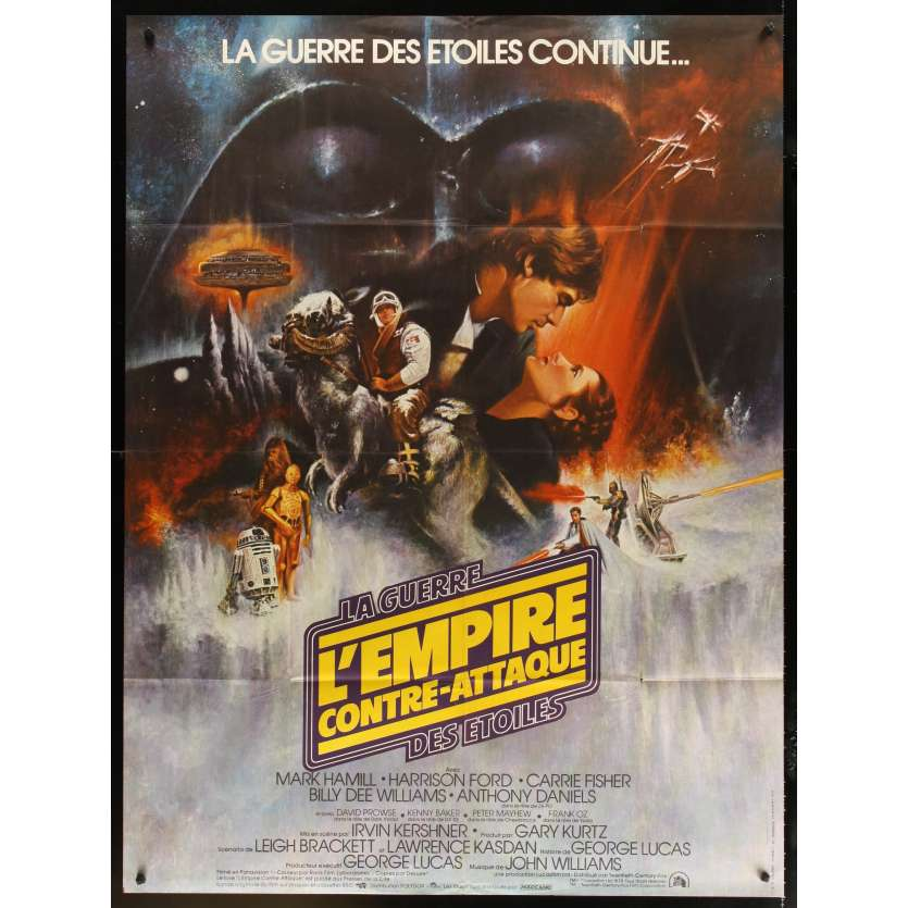 EMPIRE STRIKES BACK French Movie Poster 15x21 '80 Star Wars, Harrison Ford