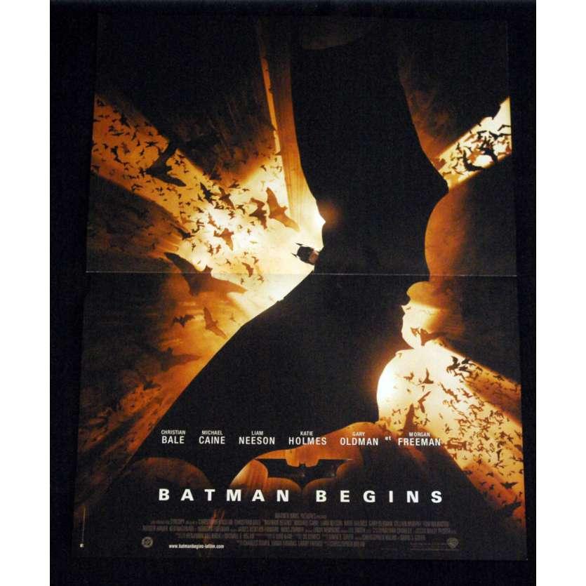 BATMAN BEGINS French Movie Poster '05 15x21 Christopher Nolan B