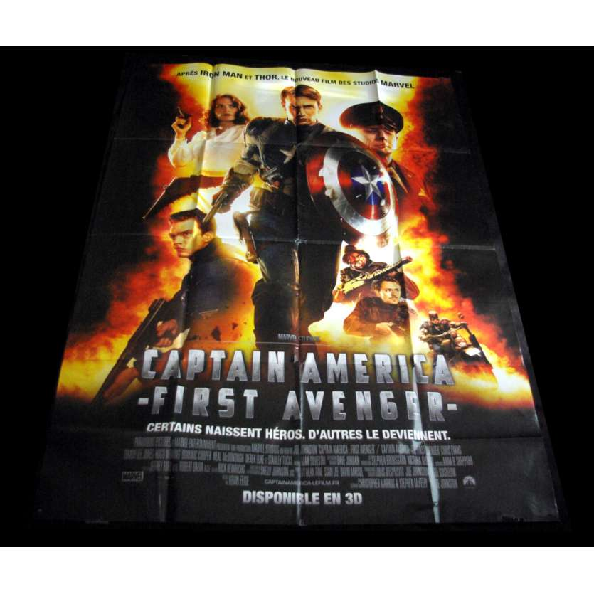 CAPTAIN AMERICA French Movie Poster 47x63 '11 Chris Evans