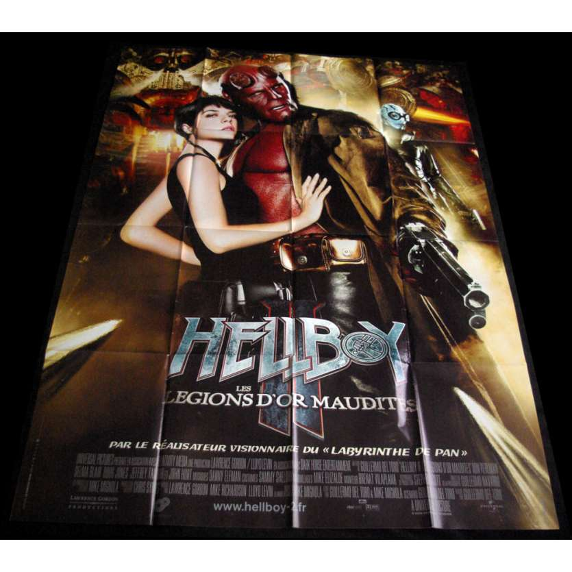 HELLBOY 2 French Movie Poster 47x63 '09 Guillermo del Toro