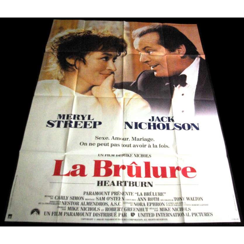 LA BRULURE Affiche de film 120x160 '86 Meryl Streep, Jack Nickolson