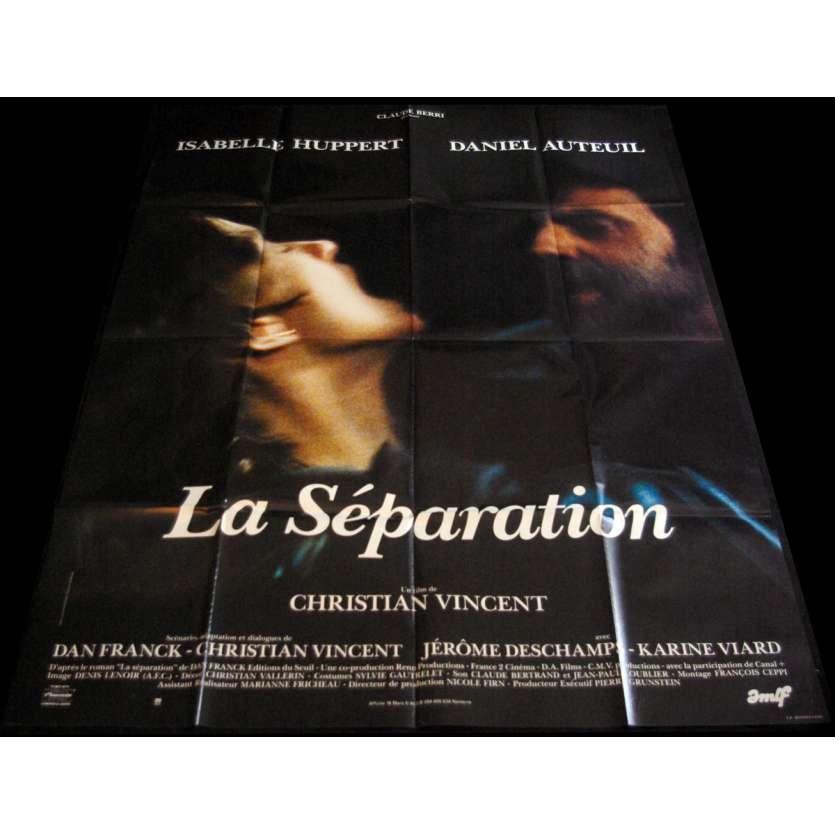 LA SEPARATION Affiche de film 120x160 - 1994 - Isabelle Huppert, Christian Vincent