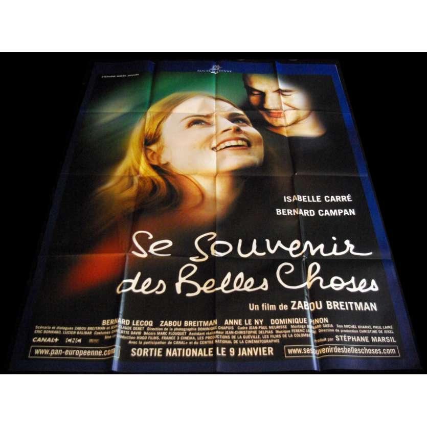 SE SOUVENIR DES BELLES CHOSES Affiche de film 120x160 - 2002 - Isabelle Carré