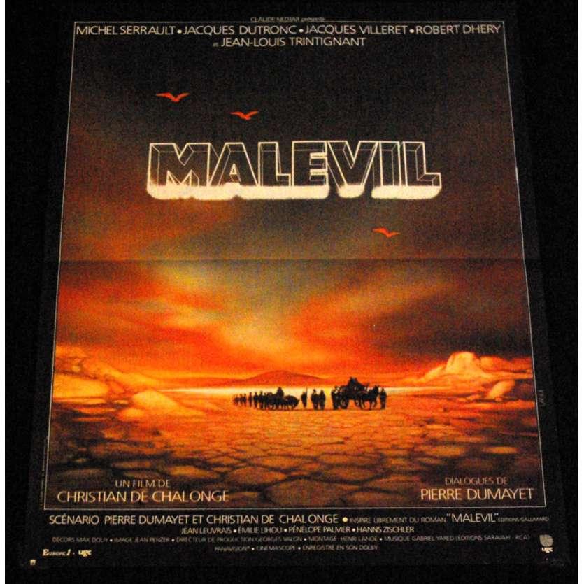 MALEVIL Affiche de film 40x60 - 1981 - Michel Serrault, Christian de Chalonge