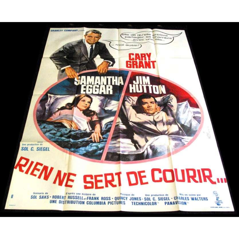 RIEN NE SERT DE COURIR Affiche de film 120X160 - 1964 - Cary Grant, Charles Walters
