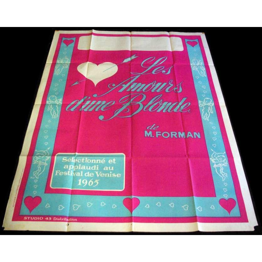 LASKY JEDNE PLAVOVLASKY French Movie Poster 47x63- 1965 - Milos Forman, Hana Brejchova