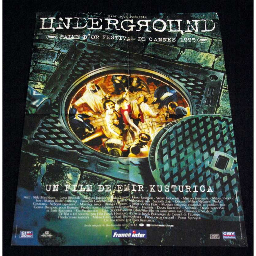 UNDERGROUND French Movie Poster 23x32- 1995 - Emir Kusturica, Miki Manojlovic