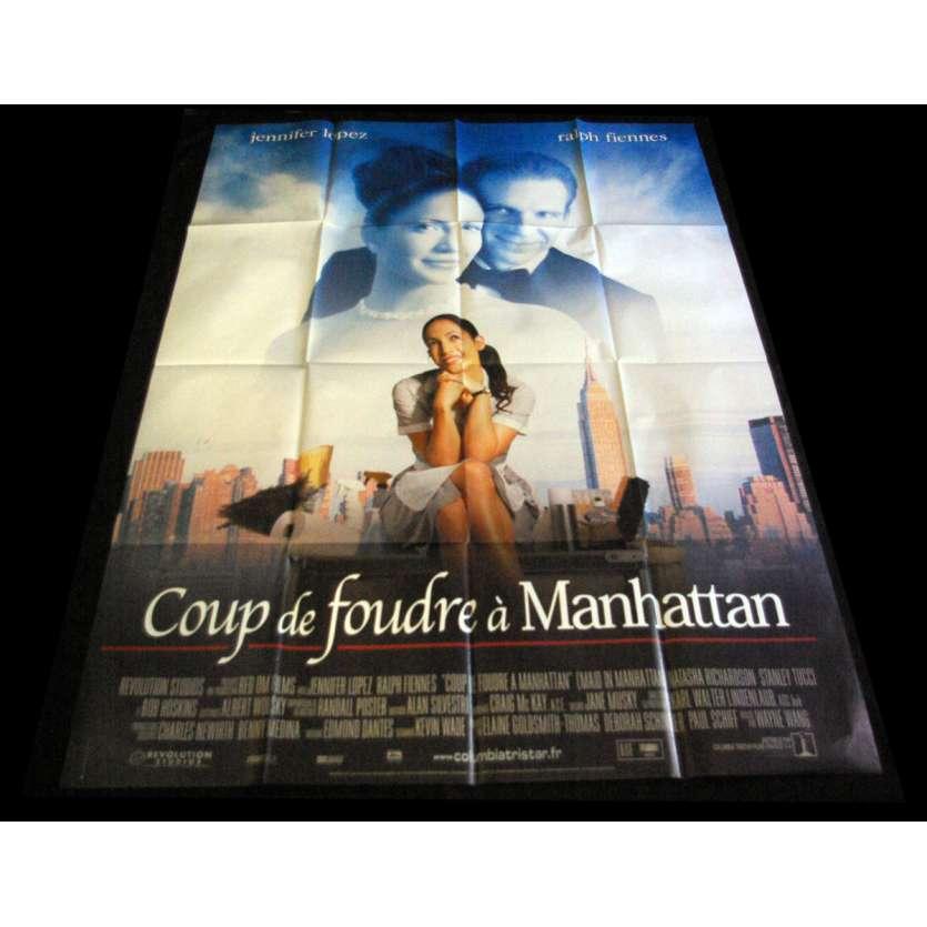 COUP DE FOUDRE A MANHATTAN Affiche de film 120X160 - 2002 - Jennifer Lopez