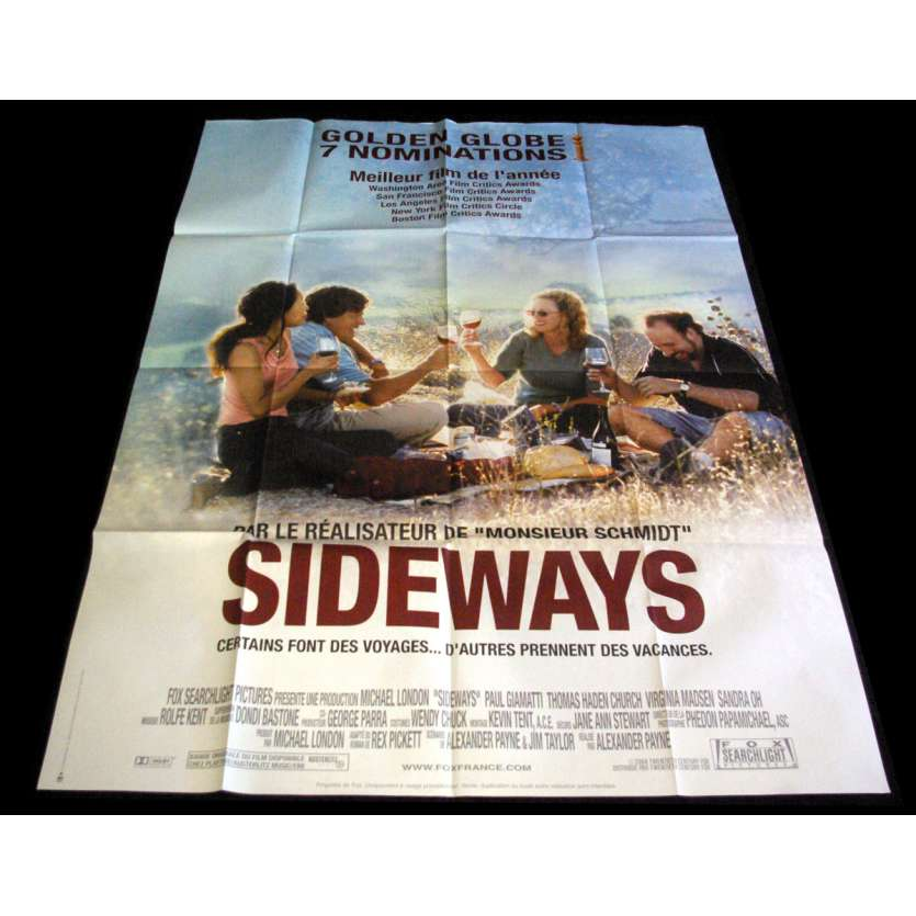 SIDEWAYS French Movie Poster 47x63- 2004 - Alexander Payne, Thomas Haden Church