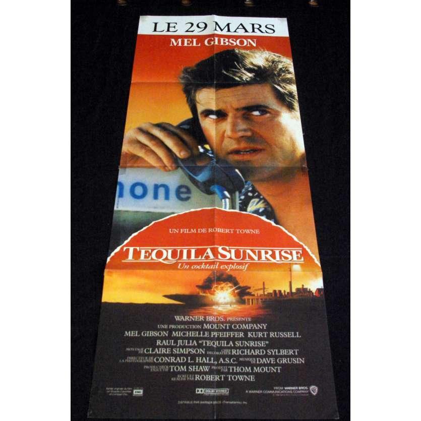 TEQUILA SUNRISE Affiche de film 60x160 - 1988 - Mel Gibson, Michelle Pfeiffer