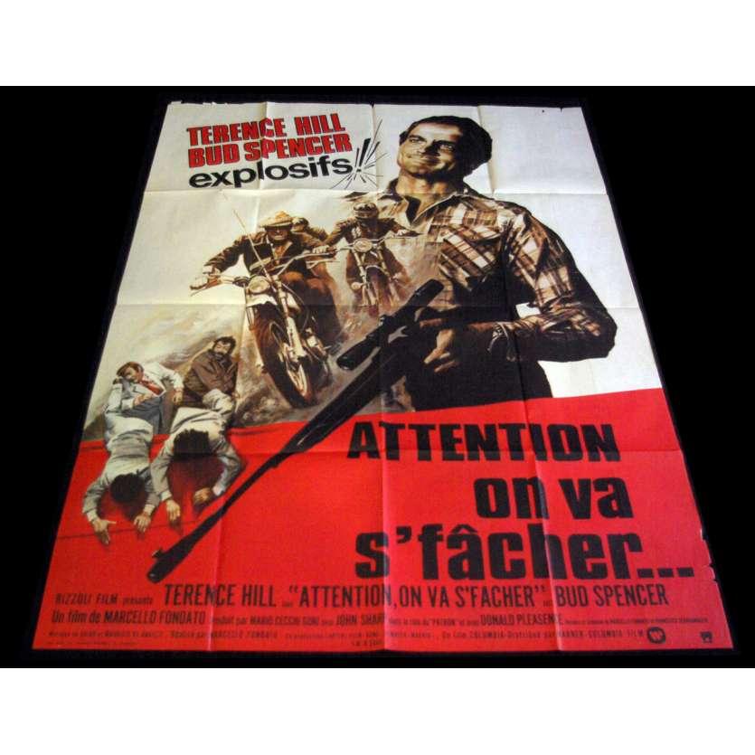 ATTENTION ON VA S'FACHER Affiche de film 120X160 - 1974 - Terence Hill, Bud Spencer