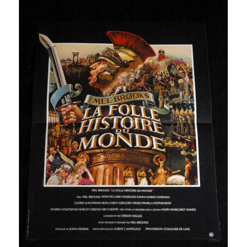 HISTORY OF THE WORLD: PART I French Movie Poster 15x21- 1981 - Mel Brooks, Mel Brooks, Dom DeLuise