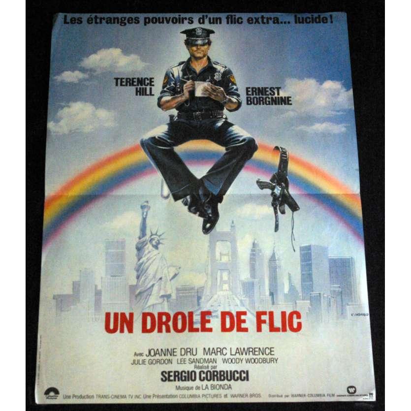 UN DRÔLE DE FLIC Affiche de film 40x60 - 1980 - Terence Hill, Sergio Corbucci