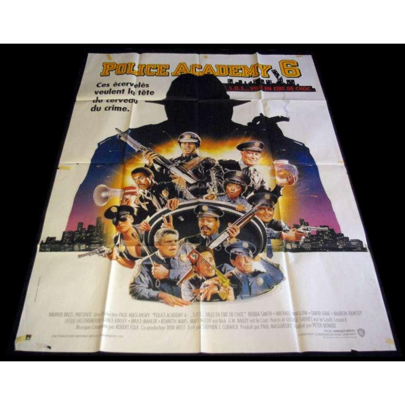 POLICE ACADEMY 6 Affiche de film 120X160 - 1989 - Peter Bonerz