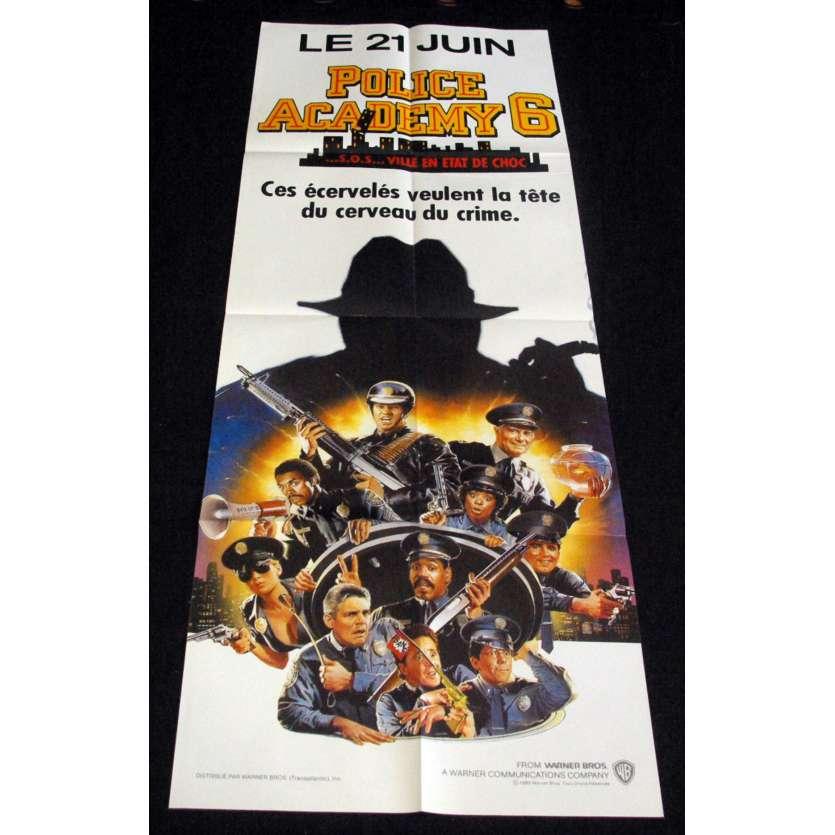 POLICE ACADEMY 7 French Movie Poster 23x63- 1989 - Peter Bonerz, Bubba Smith