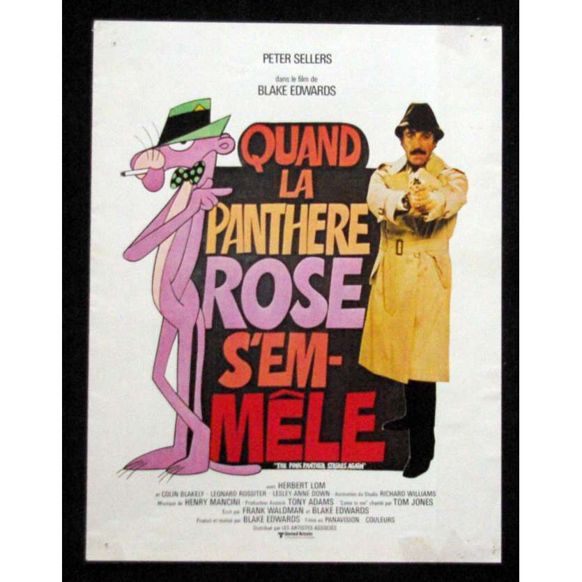 QUAND LA PANTHERE ROSE S'EMMELE Fiche publicitaire 24x31, 4 pages - 1976 - Peter Selller