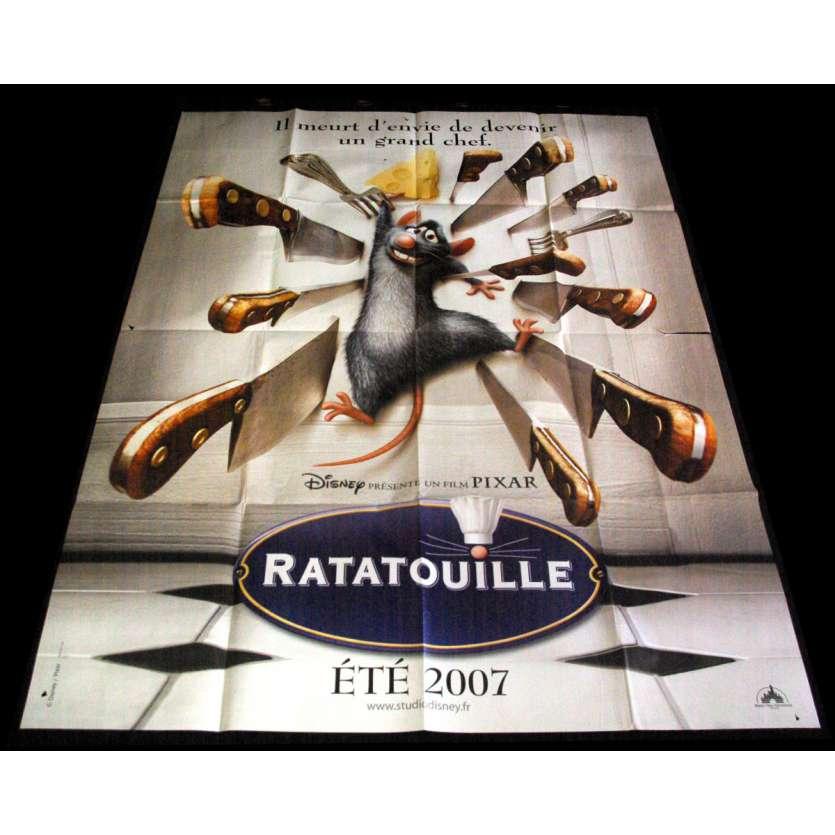 RATATOUILLE French Movie Poster 47x63- 2007 - Brad Bird,