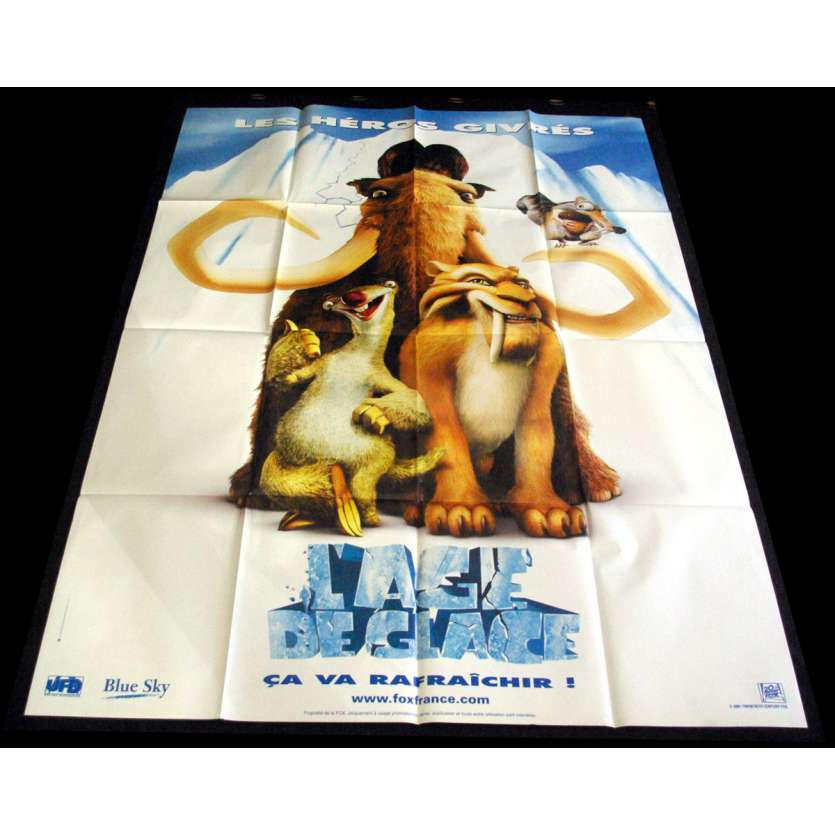 ICE AGE) French Movie Poster 47x63- 2002 - Chris Wedge,