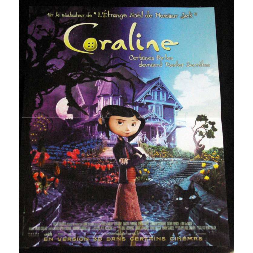 CORALINE French Movie Poster 15x21- 2009 - Henry Selick,
