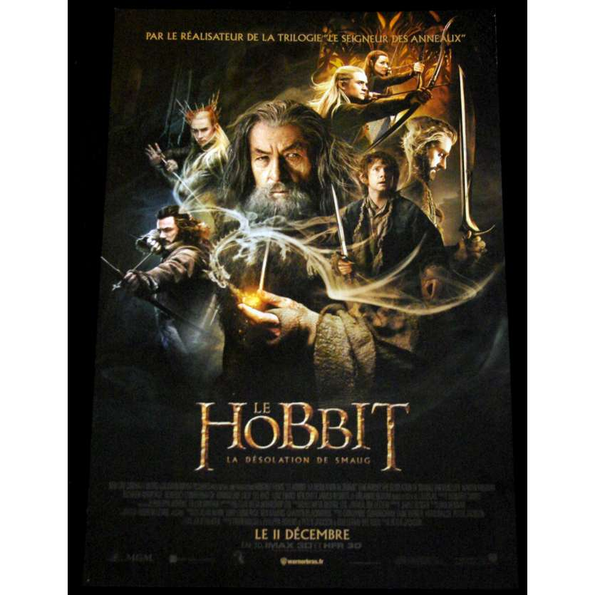 LE HOBBIT 2 Affiche de film 40x60 - 2013 - Ian McKellen, Peter Jackson