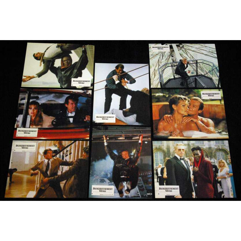 A VIEW TO A KILL French Lobby Cards (12) 9x10- 1985 - John Glen, Roger Moore