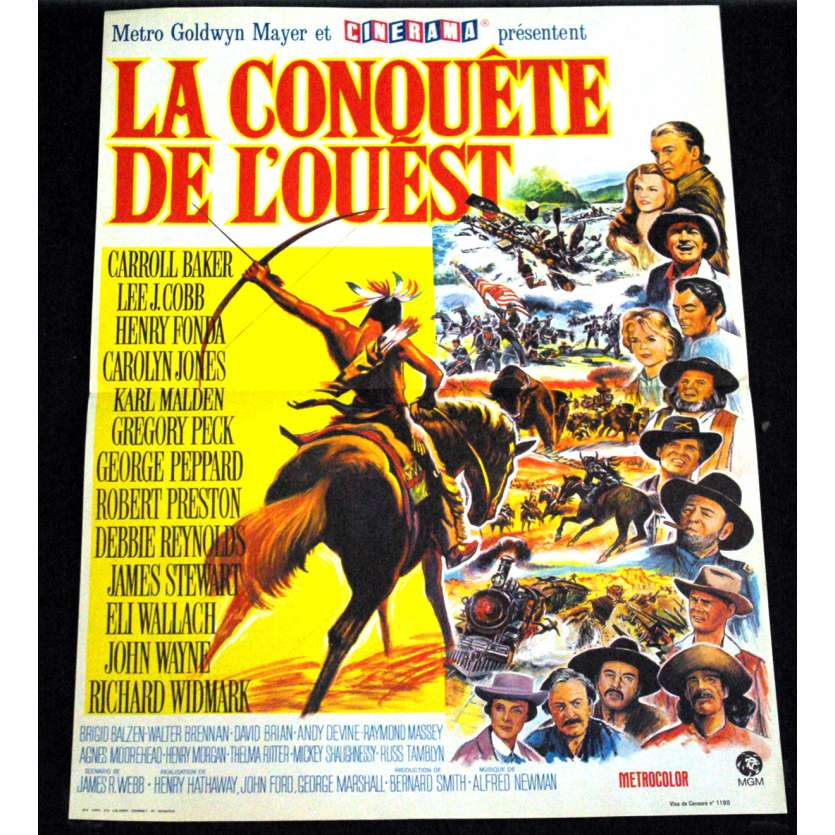 HOW THE WEST WAS WON French Movie Poster 15x21- R-1970 - Henry Hathaway, John Wayne