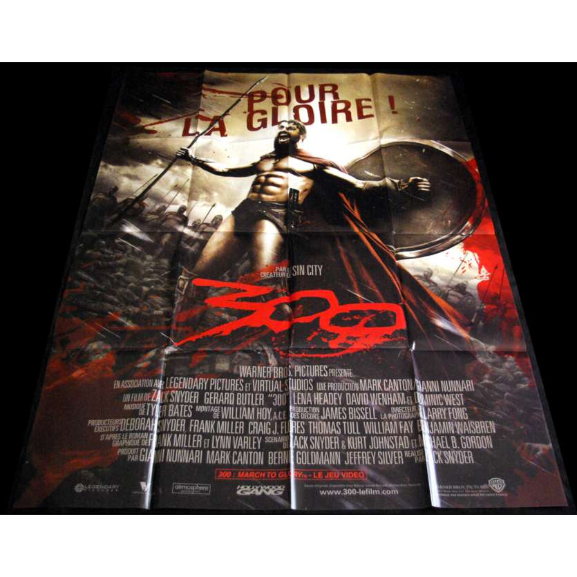 300 French Movie Poster 47x63- 2006 - Zack Snyder, Gerard Butler