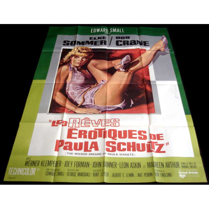 THE WICKED DREAMS OF PAULA SCHULTZ French Movie Poster 47x63- 1968 - George Marshall, Elke Sommer