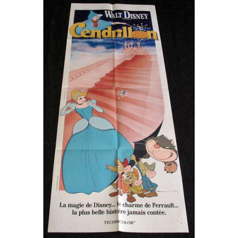 CINDERELLA French Movie Poster 23x63- R-1970 - Disney, Ilene Woods