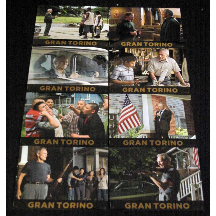 GRAN TORINO French Lobby Cards 9x12- 2008 - Clint Eastwood, Clint Eastwood