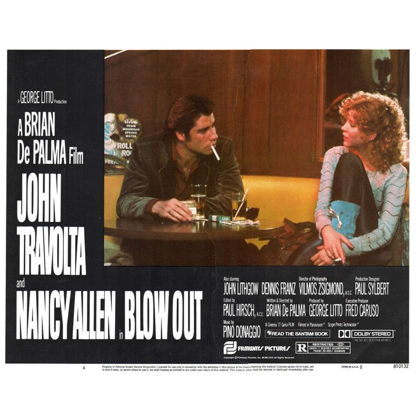 BLOWOUT Photo de film N4 28x36 - 1981 - John Travolta, Brian de Palma