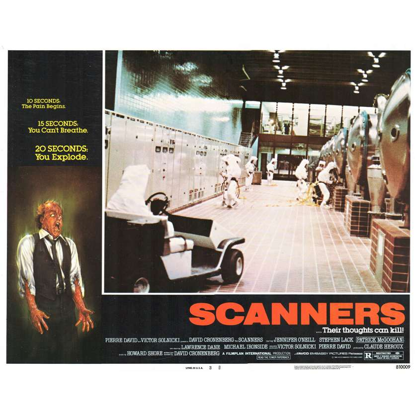 SCANNERS Photo de film N2 28x36 - 1981 - Patrick McGoohan, David Cronenberg