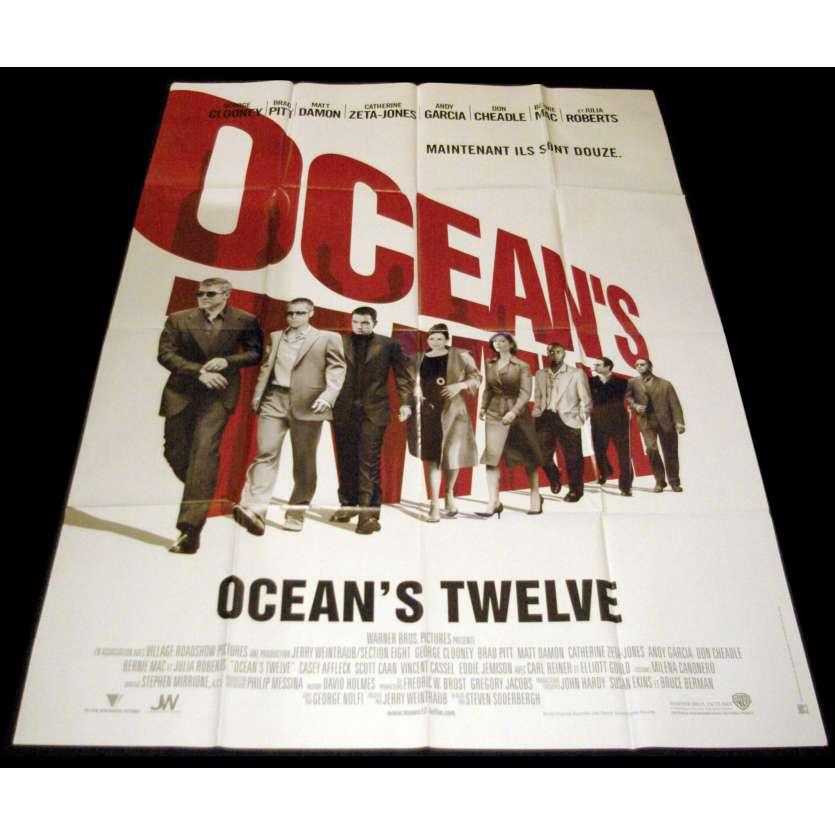 OCEAN'S TWELVE French Movie Poster 47x63- 2004 - Steven Soderbergh, George Clooney