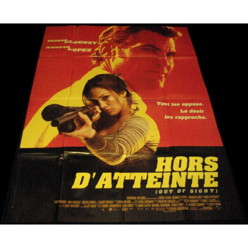 OUT OF SIGHT French Movie Poster 47x63- 1998 - Steven Soderbergh, George Clooney