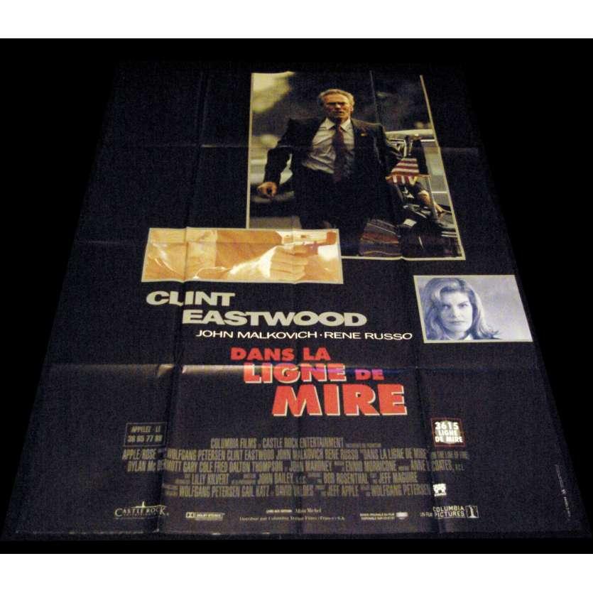 DANS LA LIGNE DE MIRE Affiche de film 120x160 - 1993 - Clint Eastwood,, Wolfgang Petersen