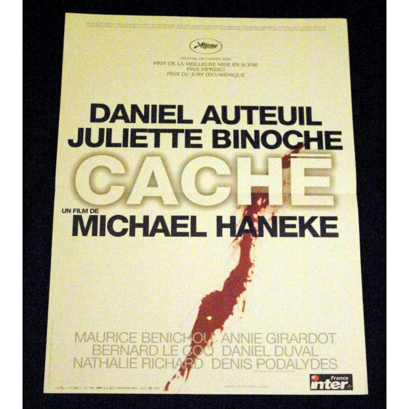 CACHE Affiche de film 40x60 - 2005 - Daniel Auteuil, Michael Haneke