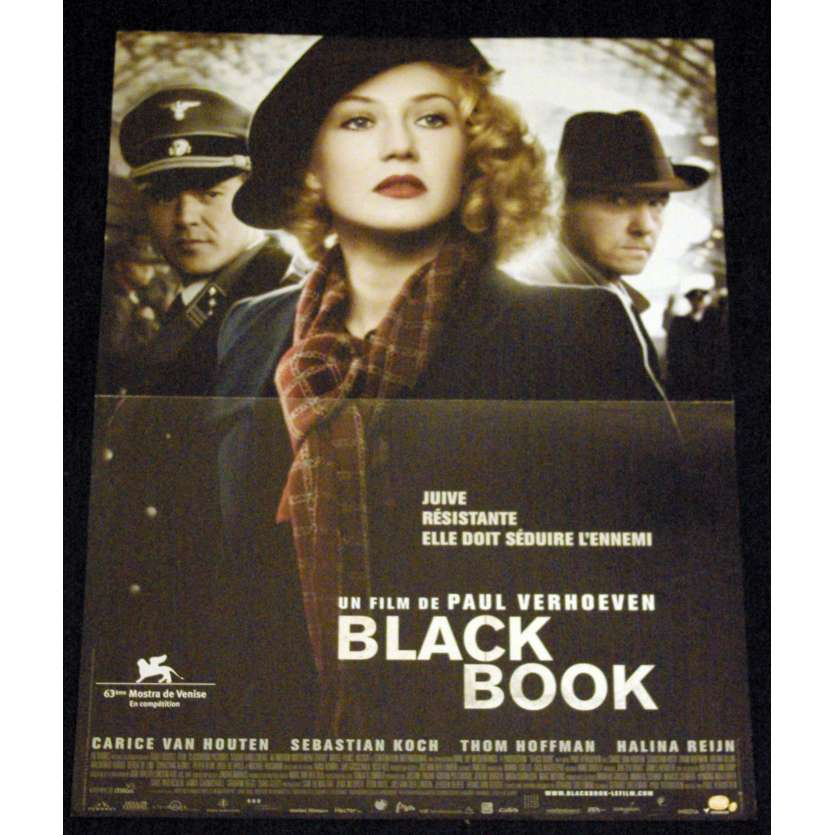 BLACK BOOK French Movie Poster 15x21- 2006 - Paul Verhoeven, Carice van Houten