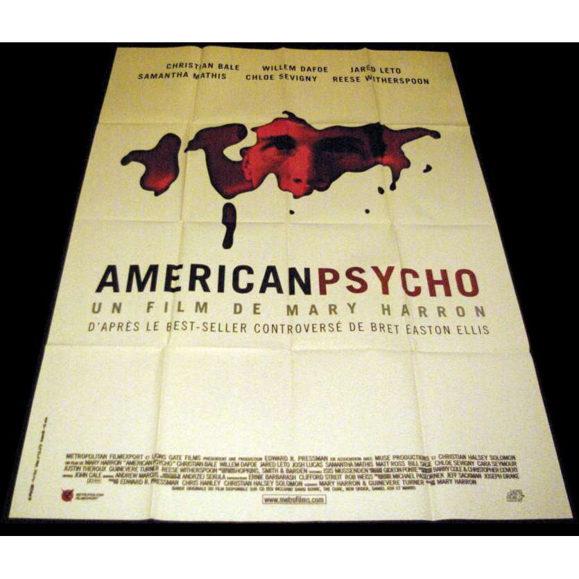 AMERICAN PSYCHO French Movie Poster 47x63- 2000 - Mary Harron, Christian Bale