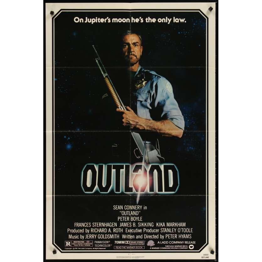 OUTLAND Affiche de film 69x104 - 1981 - Sean Connery, Peter Hyams