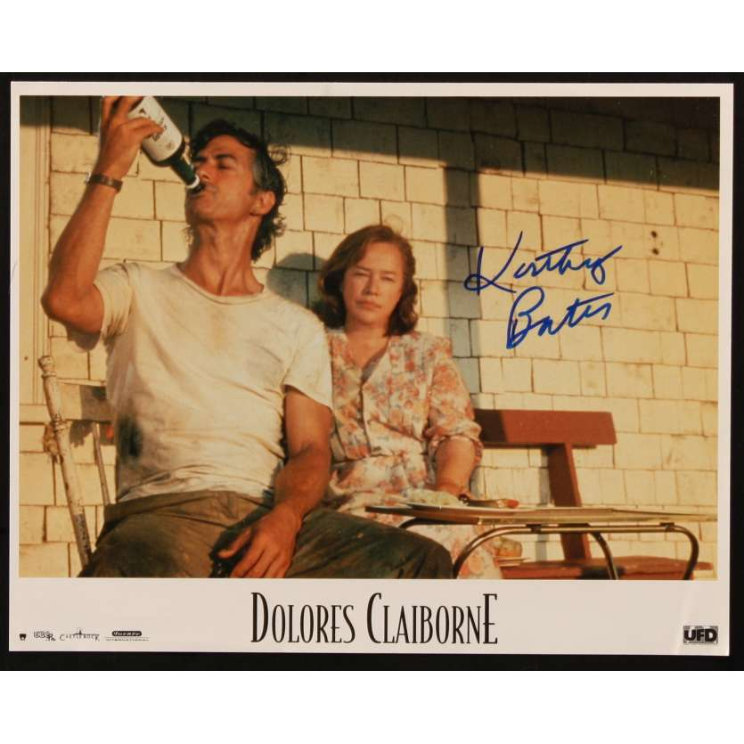 KATHY BATES Signed Lobby Card 11x14 - 1995 - Dolores Clairborne, Stephen King