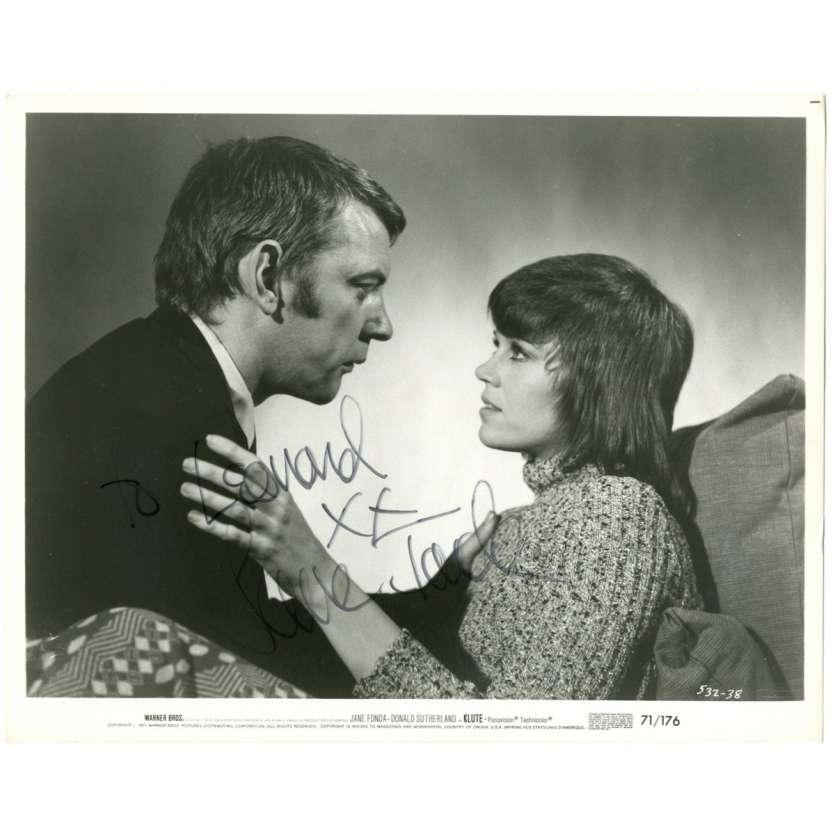 JANE FONDA Photo signée 20x25 - 1971 - Klute, Alan J. Pakula