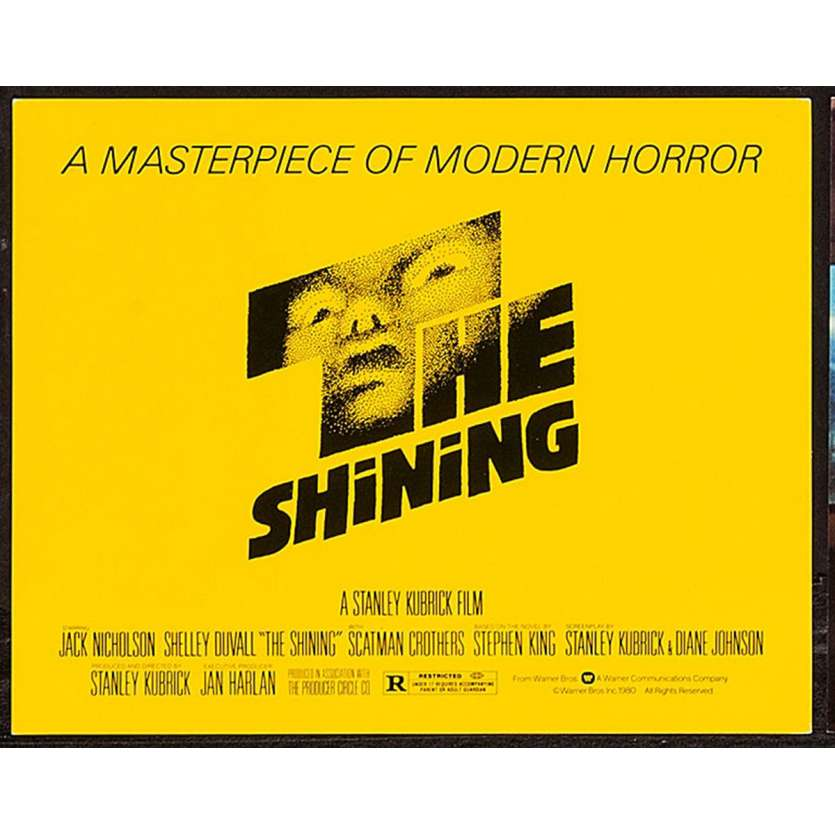 THE SHINING US Title Card TC 11x14- 1980 - Stanley Kubrick, Jack Nickolson