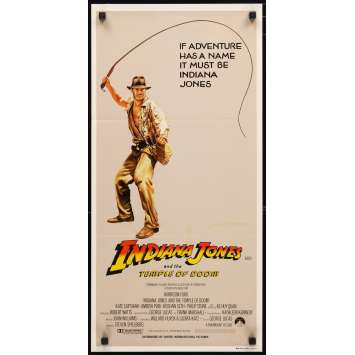 INDIANA JONES AND THE TEMPLE OF DOOM Australian Movie Poster 2 14x27- 1984 - Steven Spielberg, Harrison Ford
