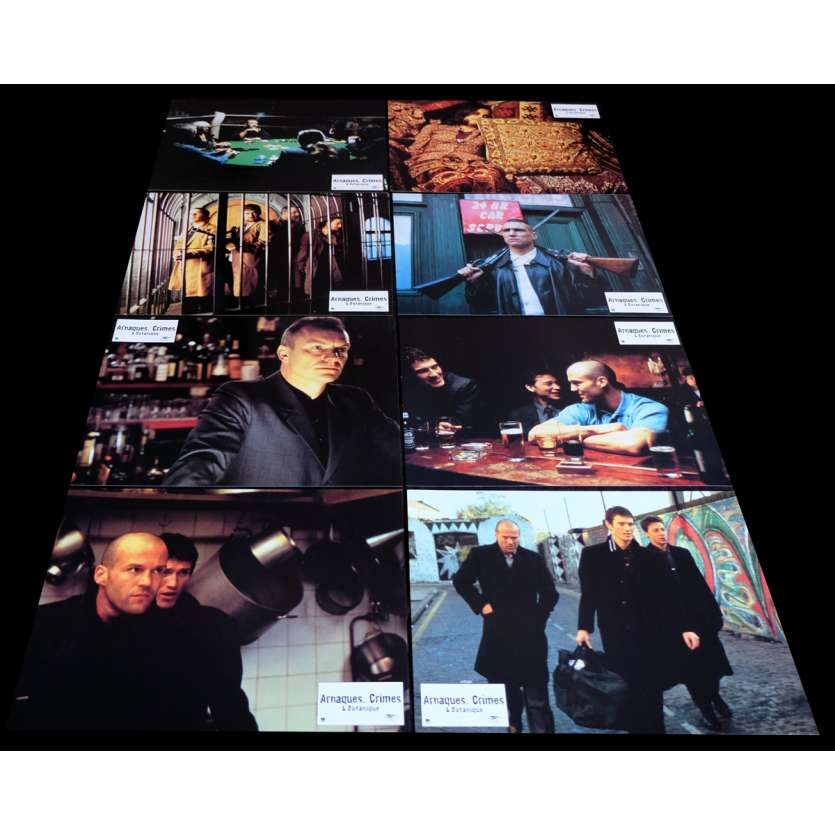LOCK, STOCK AND TWO SMOKING BARRELS French Lobby Cards 9x12- 1998 - Guy Ritchie, Jason Statham