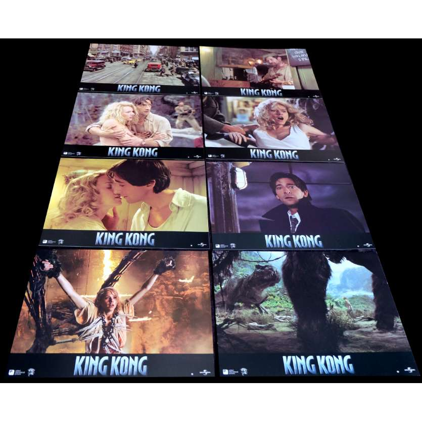 KING KONG French Lobby Cards 9x12- 2005 - Peter Jackson, Naomi Watts