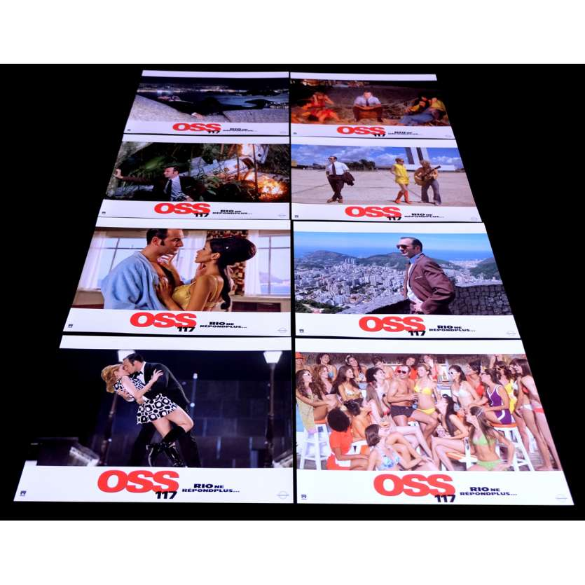 OSS 117 French Lobby Cards 9x12- 2009 - Michel Hazanavicius, Jean Dujardin