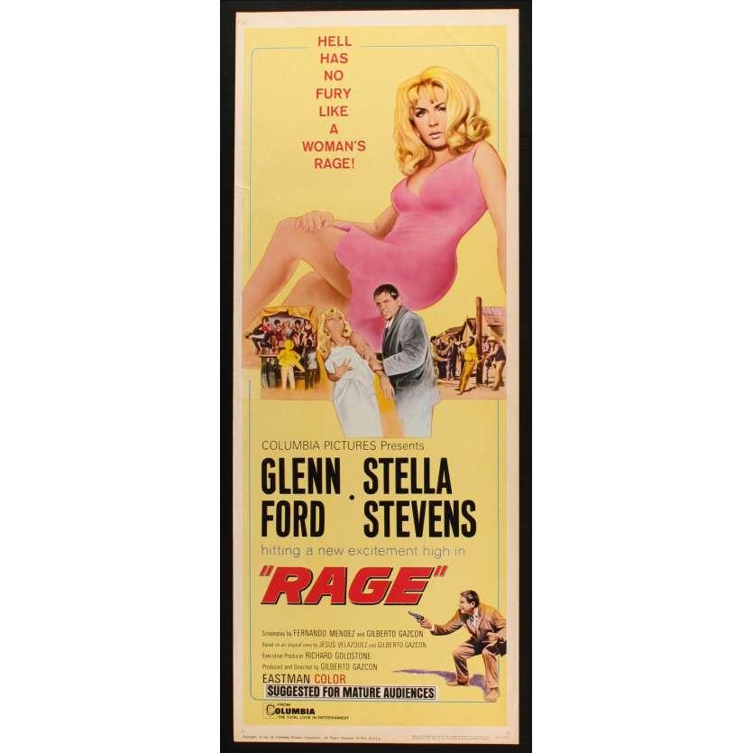 LA RAGE DE SURVIVRE Affiche de film 36x91 - 1966 - Stella Stevens, Glen Ford